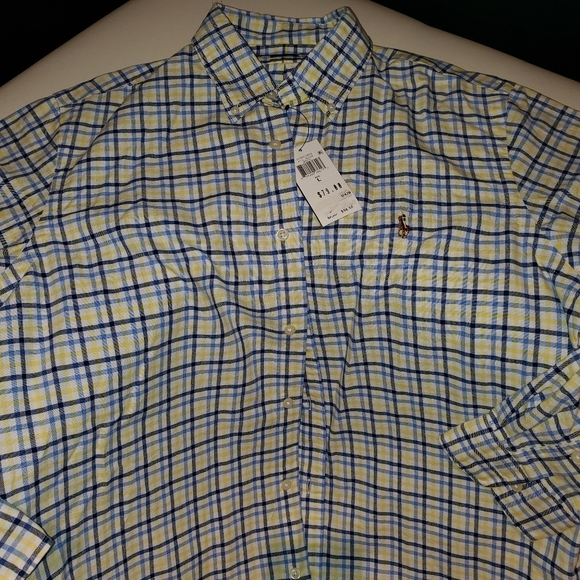 Polo by Ralph Lauren Classic Fit Oxford Shirt,  LG